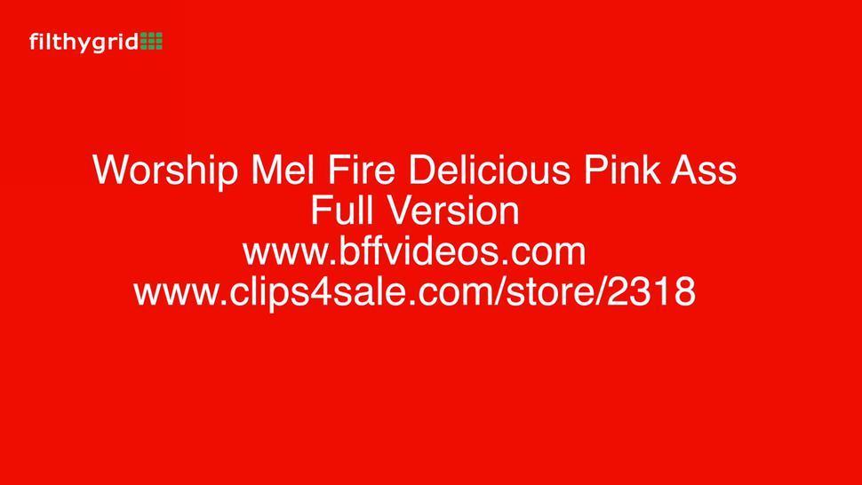Mel Fire lesbian pink ass