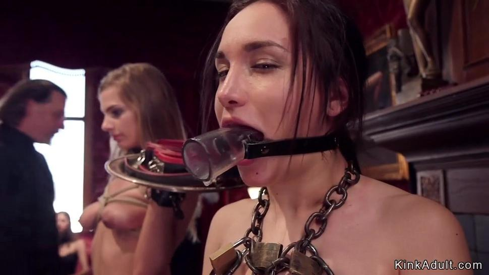 Bdsm orgy party and facial cumshots