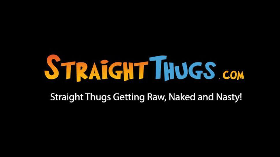 STRAIGHT THUGS - Straight thug talks to the camera while masturbating solo