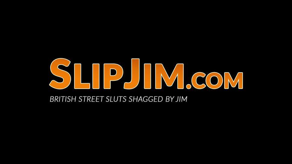 SLIP JIM - Young amateur teen sucks and rides senior dick in POV
