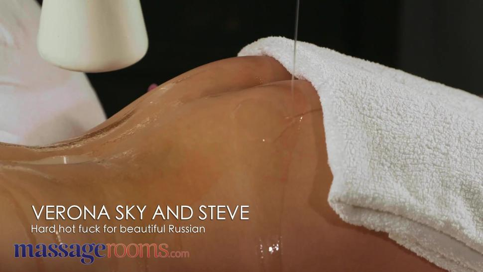 Massage Rooms Sensual oil soaked sex with gorgeous Russian brunette Verona Sky