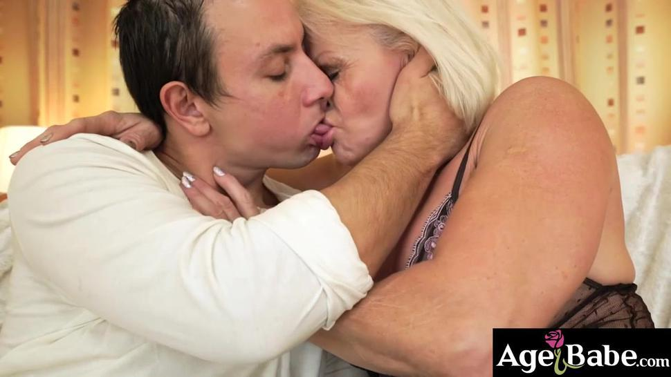 Granny Anett will blow Robs mind with her sexual experience