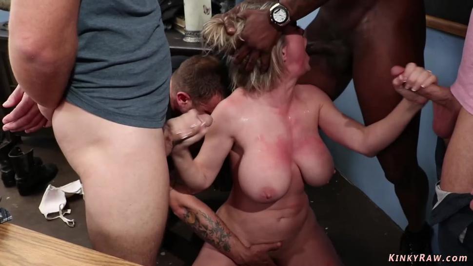 Huge tits MILF professor dp fucked