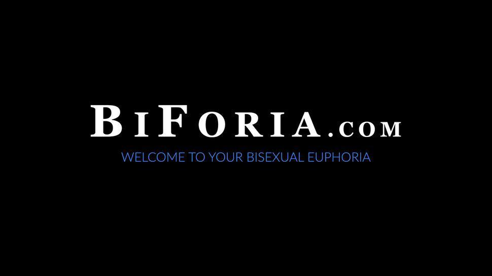 BIFORIA - Muscle stud Dante Colle fucks hardcore in bisexual threesome