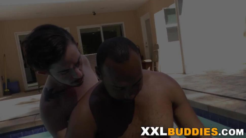 Gay amateur riding black cock