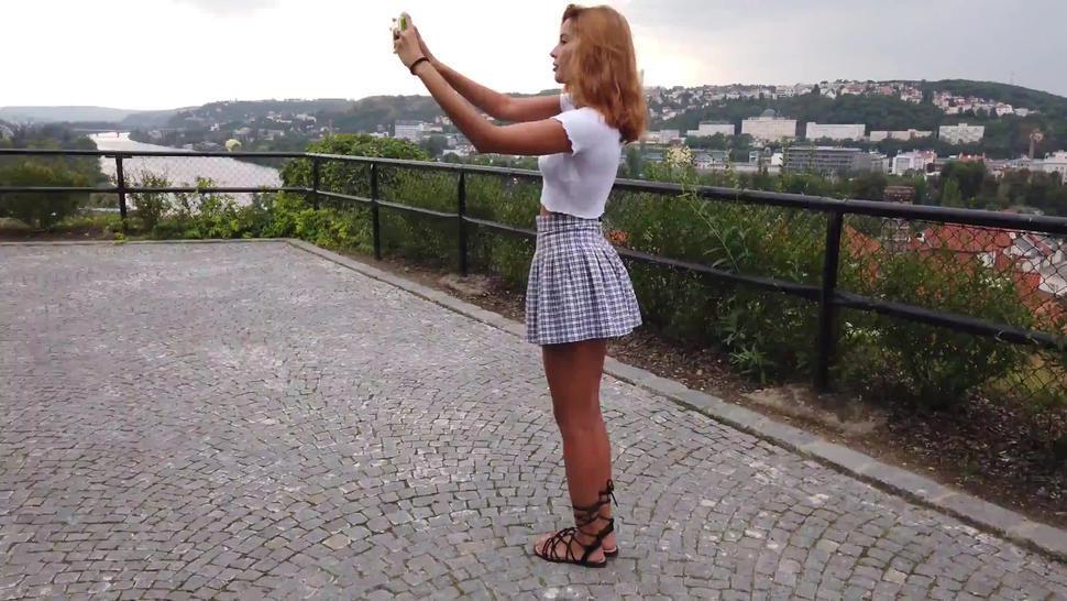 Agatha Vega -Walk around  Prague  W4B  2160p  4k UHD