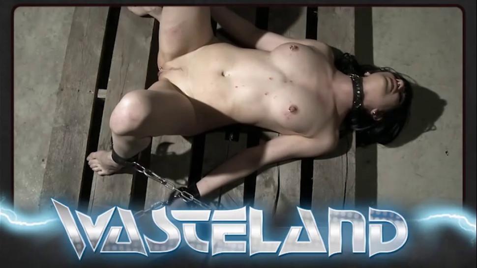 WASTELAND BDSM - Female sex slave with big tits geting spanked by femdom