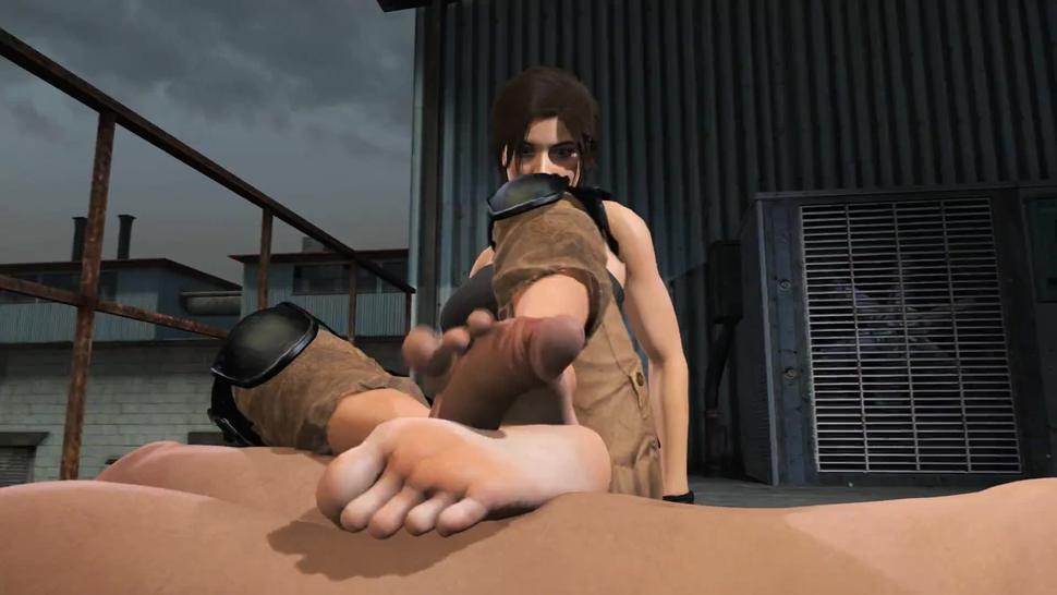 Footjob lara croft Lara Footjob