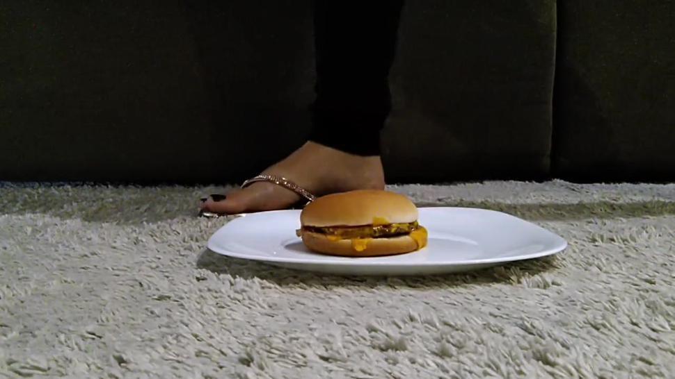 Crush food to cuckold/slave