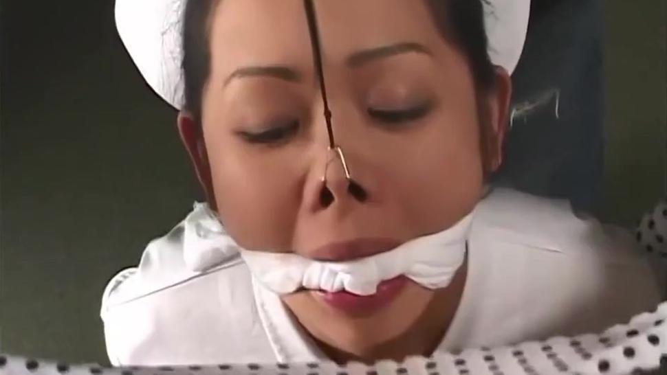 Sweet Asian tied blowjob
