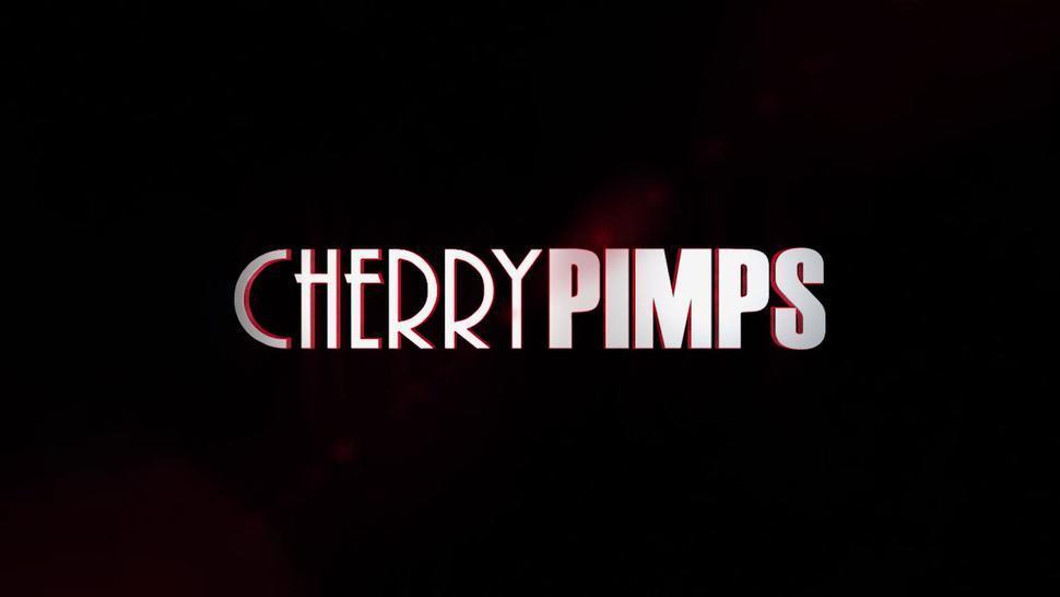 CHERRY PIMPS - All Natural Blonde Teen Khloe Kapri Loves A Christmas Spanking by Michael Vegas before Hardcore Deep Dicking