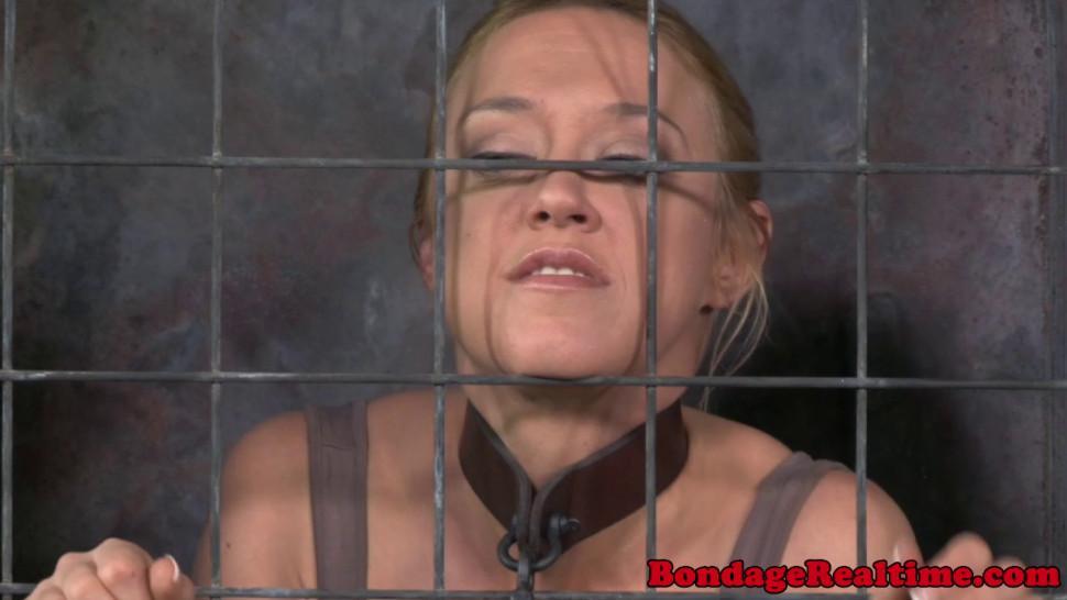Cage/bdsm/cage in darling bdsm deepthroating