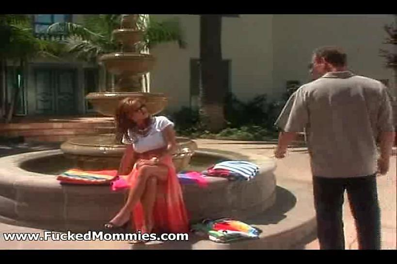 FUCKED MOMMIES - Chesty mommy suck and fuck a big dick at pool