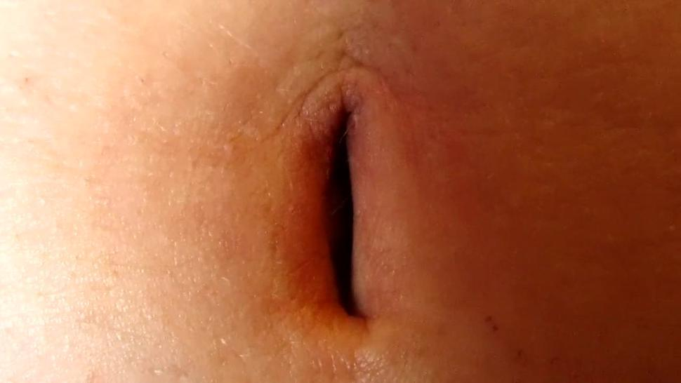 hot stretched belly and bulging navel finger for sexy game she likes and excites Fantasy of Paula
