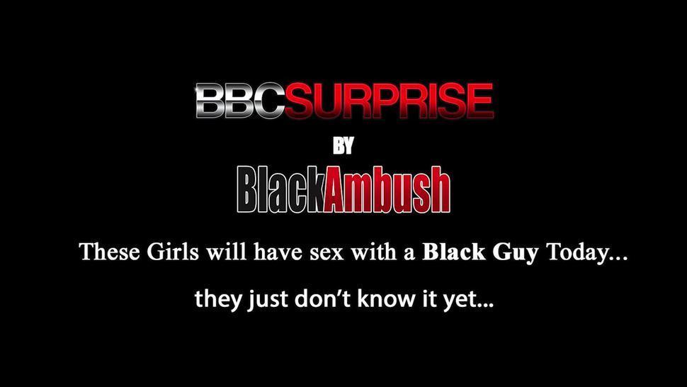 BLACK AMBUSH - Pierced Boobs Tiny Teen Gisele Enjoys A BBC Until She Leaks Warm Cum