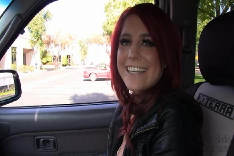 Gloryhole Hustlers Haley Swallows Cum
