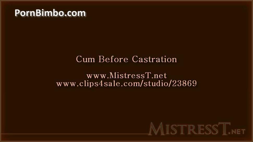 Cum before castration