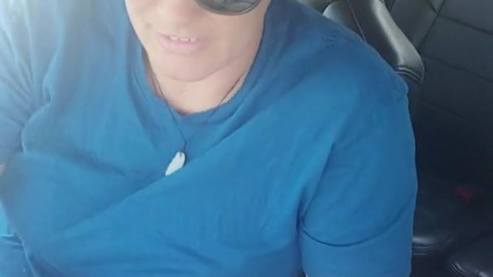 Masturbating my wet pussy while he's driving
