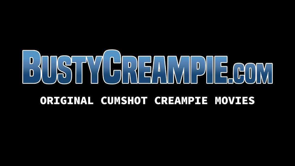 BUSTY CREAMPIE - Busty Britney Amber deepthroats big cock before pounding