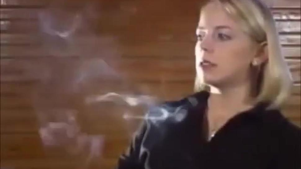 really sexy blonde smoking anyone know who she is?