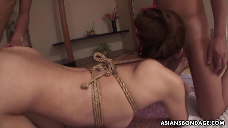 ASIANS BONDAGE - Bondage loving chick Azusa Uemura had a wild threesome