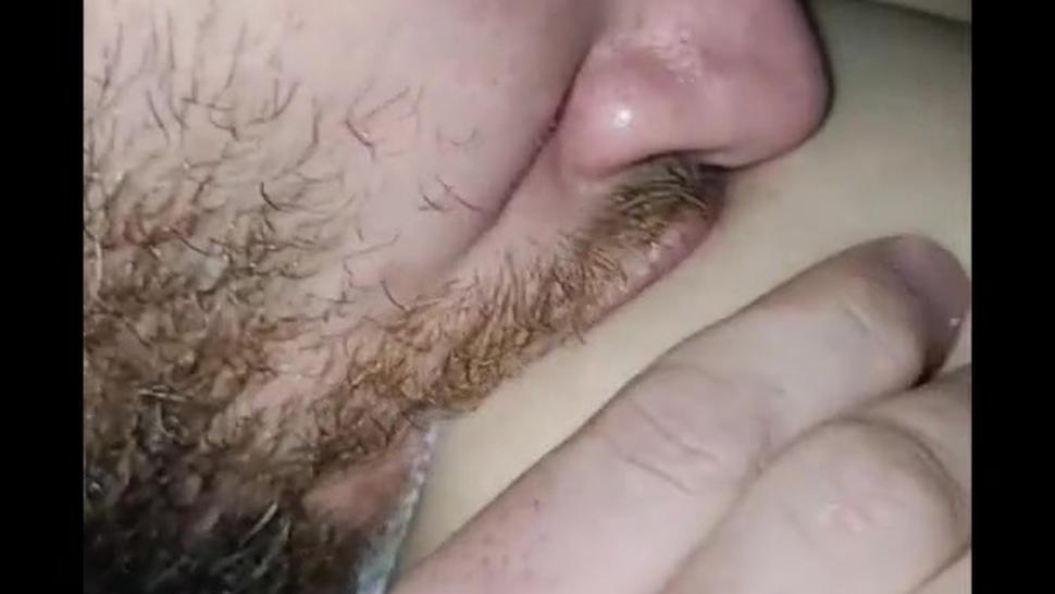Sexy dad drinks his wife's milk. Adult breastfeeding/anr/abf