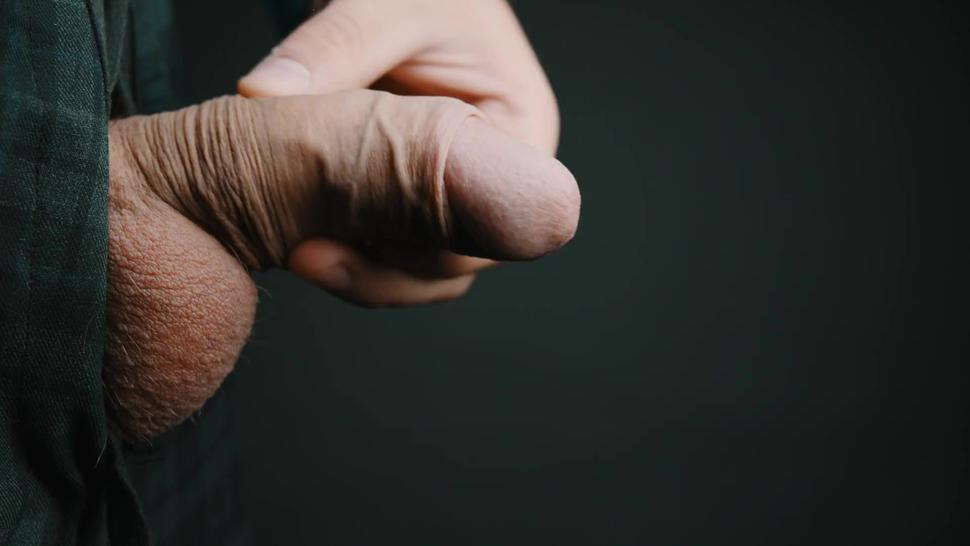Thick cumshot in 4K slow motion. Masturbating my big veiny Swedish dick. Uncut and natural foreskin