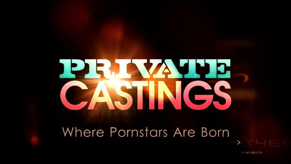 Euro blonde gal takes hardcore DP at porn casting