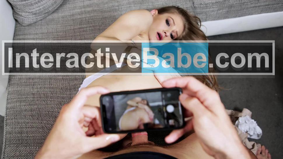 Two petite European babes in POV porn