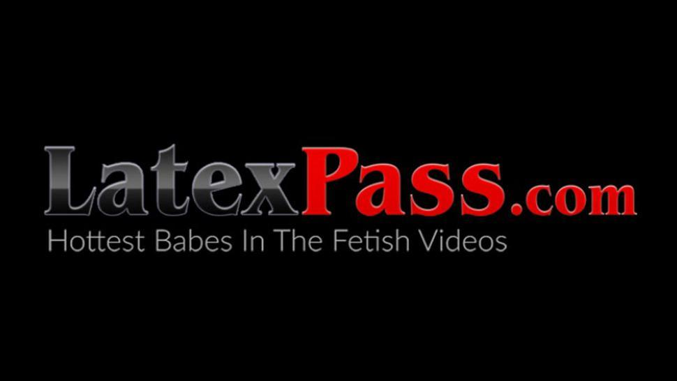 LATEX PUSSY CATS - Latex suit busty babes hardcore pussy fingering and rimming