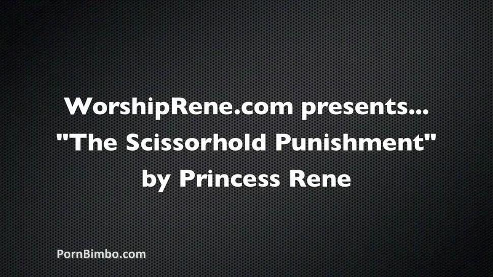 Black Belt Princess Rene's Long Sexy Legs Are So Dangerous Submission Triangle Choke