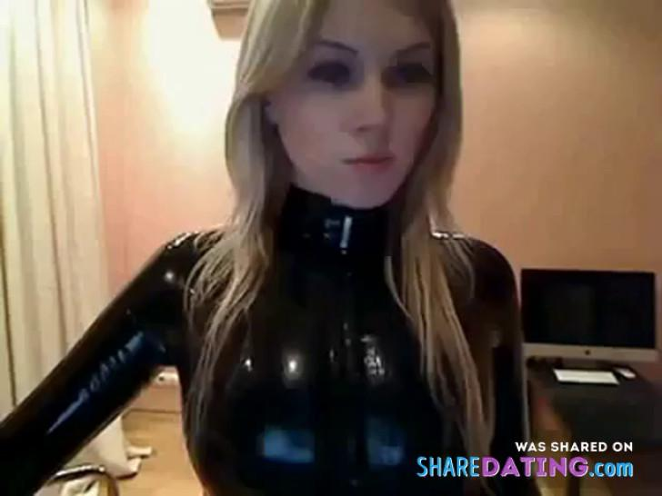 Mili Latex catsuit shiny and tight