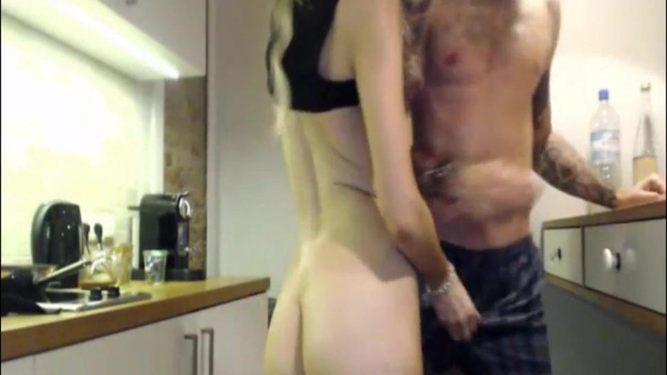 Sultry Coed Fucked By Stud All Over The Kitchen