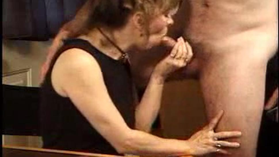 Mature Lady Licks Sperm From Table 1