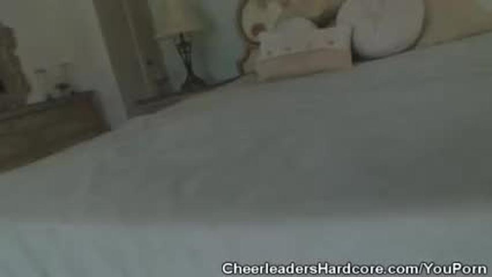 Naughty Cheerleader Dick Sucking