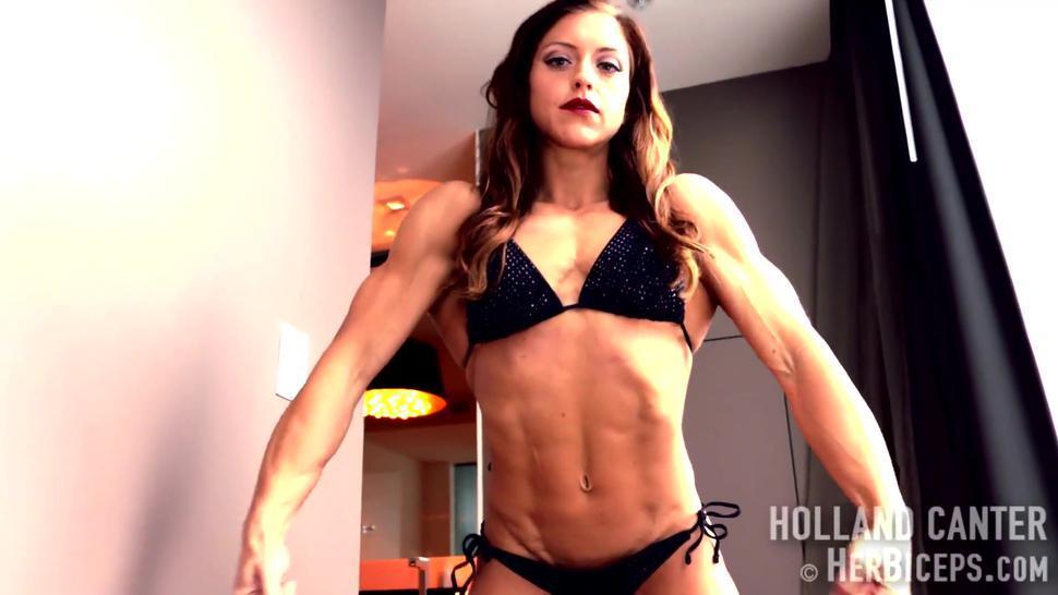 Beauty muscular female