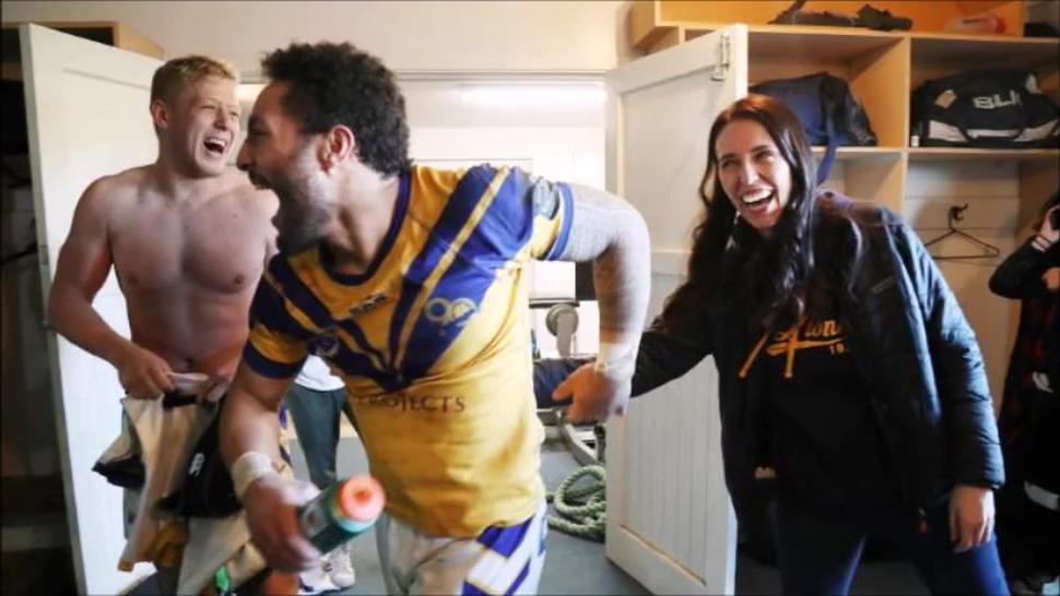 Jacinda Ardern & The Men's Naked Rugby Team