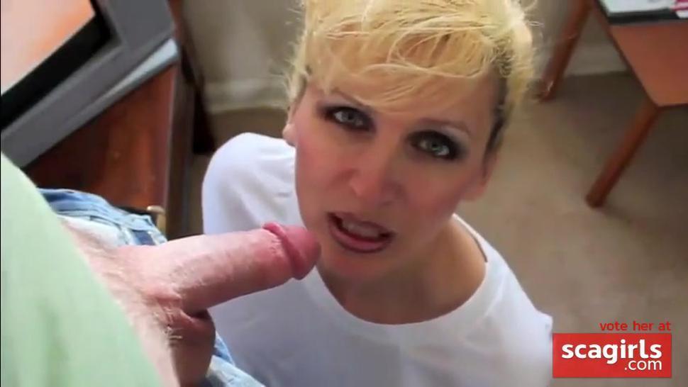 Slutty girl swallows her husbands load