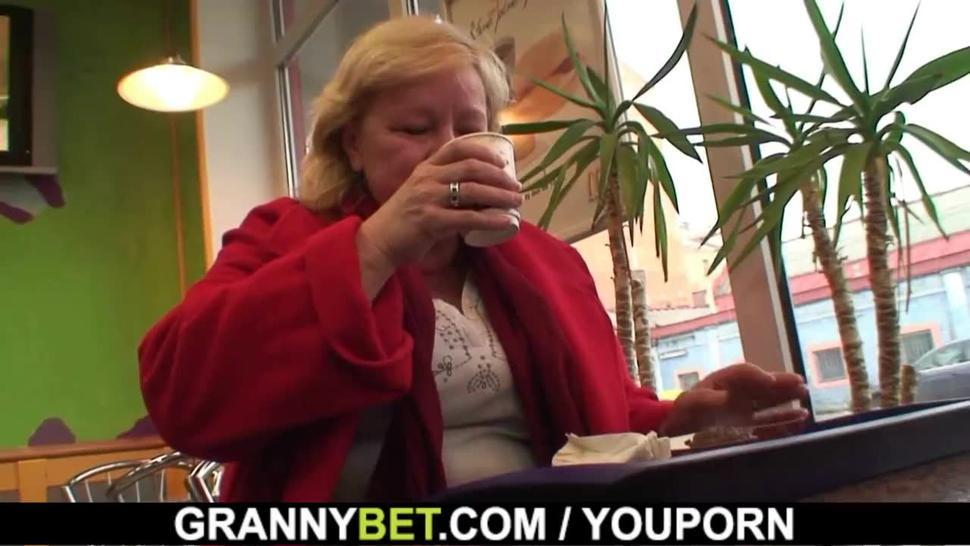 Plump dick hungry granny and boy