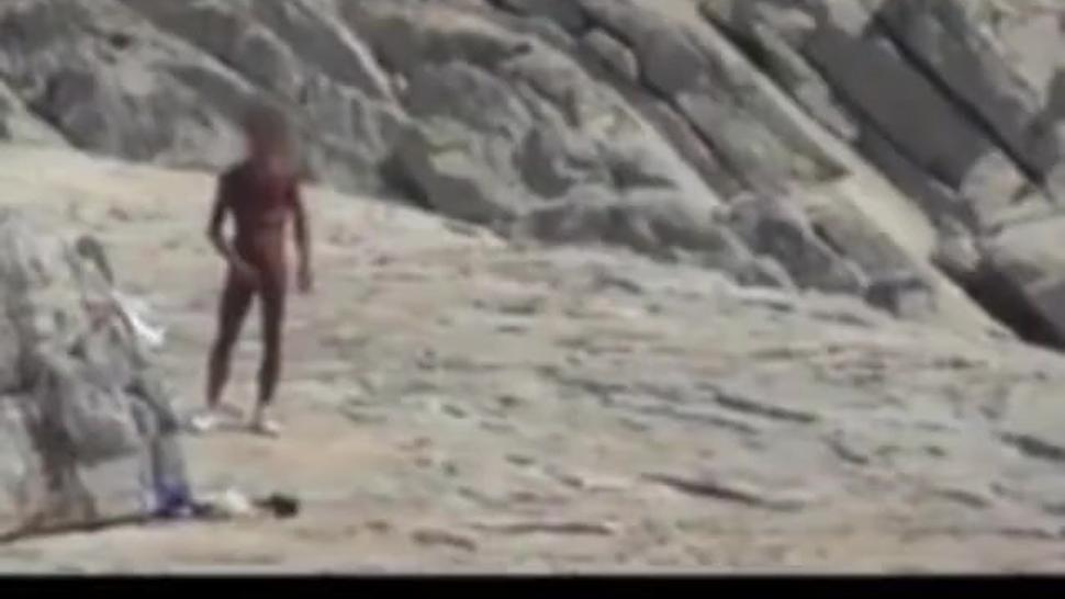 Naked men and gay sex on the beach