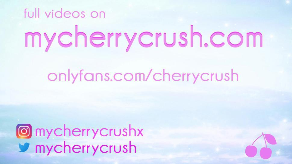 cherrycrush cosplay cumshot compilation - swallow facial and anal creampie