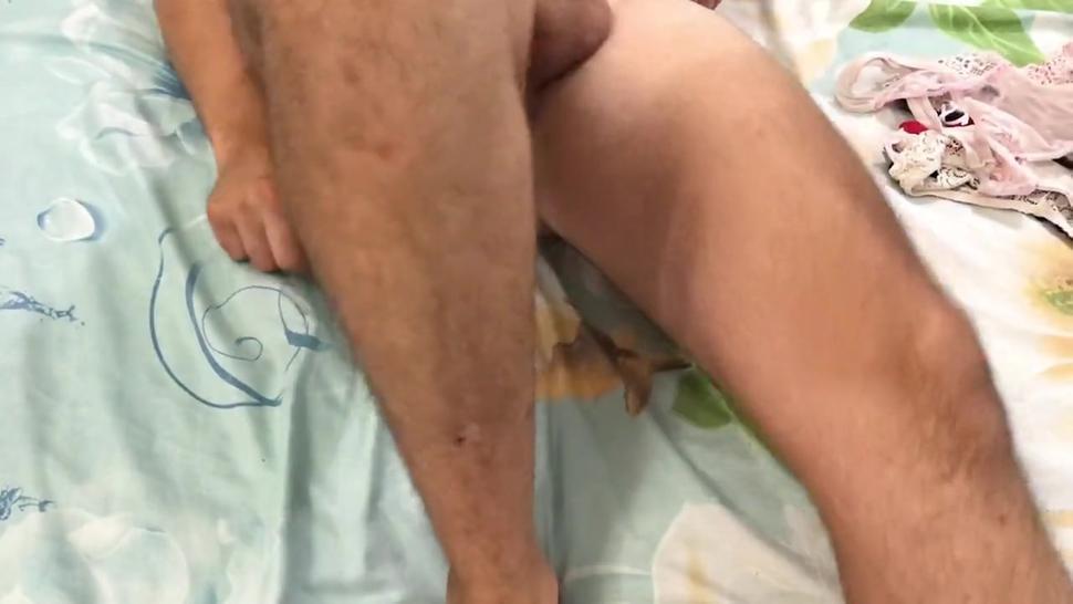 Sexy guy wears women's panties