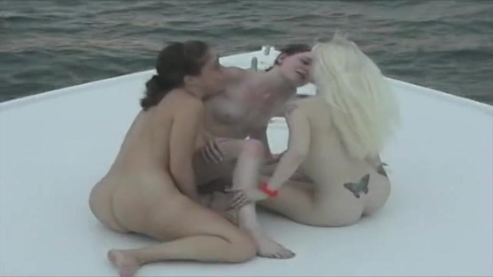 Three Girls Getting Wild On A Yacht