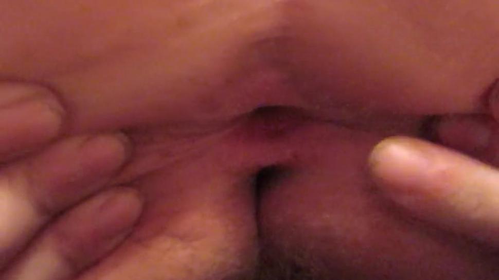 Pink virgin butthole winking