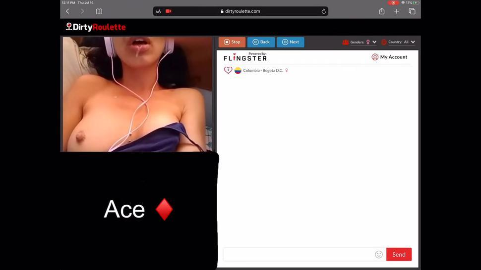 (Omegle/DirtyRoulette) Sexy Latina Gets Dirty for Cum