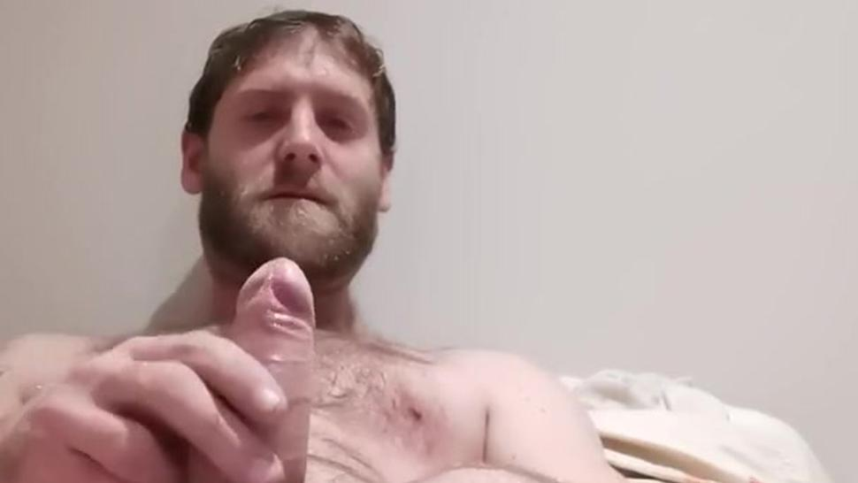 bearded hairy daddy pumps out a nice load