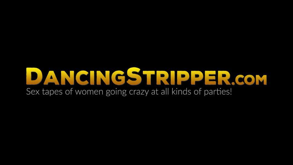DANCING STRIPPER - Sexy lingerie babe pussy drilled hardcore at wild CFNM party