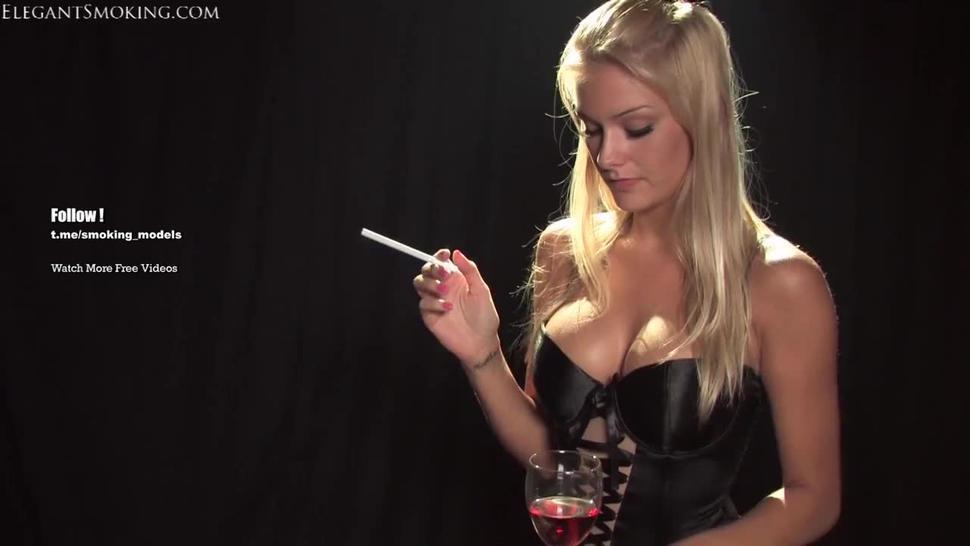 Natasha Marley smokes 120s  Smoking Fetish