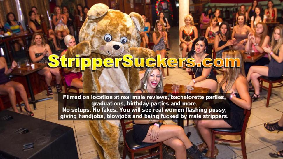Male Stripper Licks Cheating Wives Pussies & Gets His Dick Sucked Off