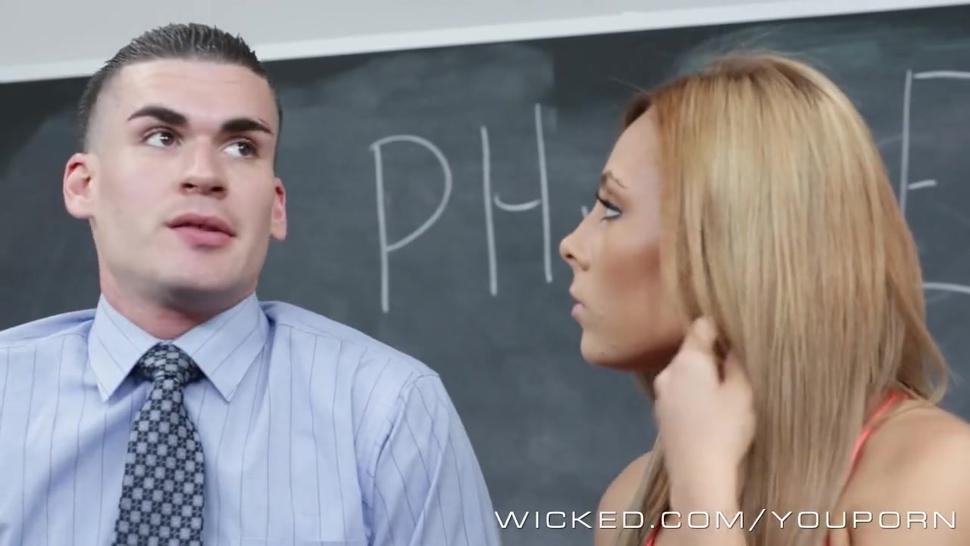 Wicked - Hot schoolgirl gets fucked rough in class